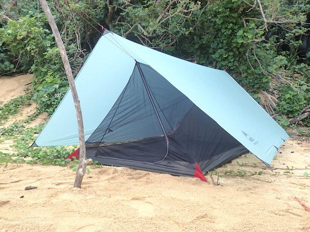 タープ 泊 蚊帳