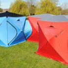 【海外】高い天井と、テント同士を連結できる拡張性!居住性を追求した立方体テント「Qube Tents」